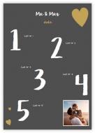 Poster, Lista invitaților la nuntă, 50x70 cm