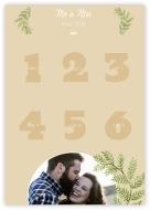 Poster, Lista de invitați la nuntă, 50x70 cm
