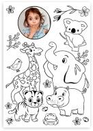Poster, Carte de colorat- Animale, 30x40 cm