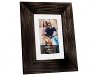 Ramă foto Neagră, de lemn, 17x22 cm