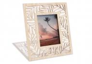 Ramă de lemn pentru fotografie Frunze de palmier, 18x22 cm