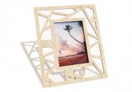 Ramă de lemn pentru fotografie Triunghiuri, 18x22 cm