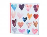 Album foto Hearts 200 de fotografii , 21x22 cm