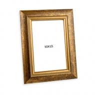 Ramă foto Aurie, 10x15 cm