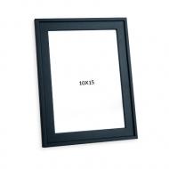 Ramă foto Negru cu adâncitură, 10x15 cm