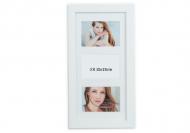 Ramă foto 3 fotografii albă, 20x42 cm