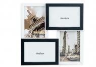 Ramă foto Alb-negru cu 4 fotografii, 29x29 cm