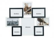 Ramă foto Alb-negru cu 8 fotografii, 42,5x55,5 cm