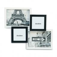 Ramă foto Alb-negru cu 4 fotografii, 32x37 cm
