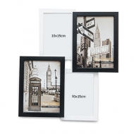 Ramă foto Alb-negru cu 4 fotografii, 38,5x38,5 cm