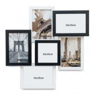 Ramă foto Alb-negru cu 6 fotografii, 40x40 cm