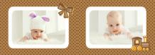 Albumul de ciocolată a bebelușului fotocarte, 30x20 cm