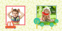 Fotocarte Momente dulci a preșcolarului, 30x30 cm