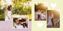 Fotocarte Eleganța nunții, 20x20 cm