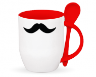 Cană cu linguriță, Mustață